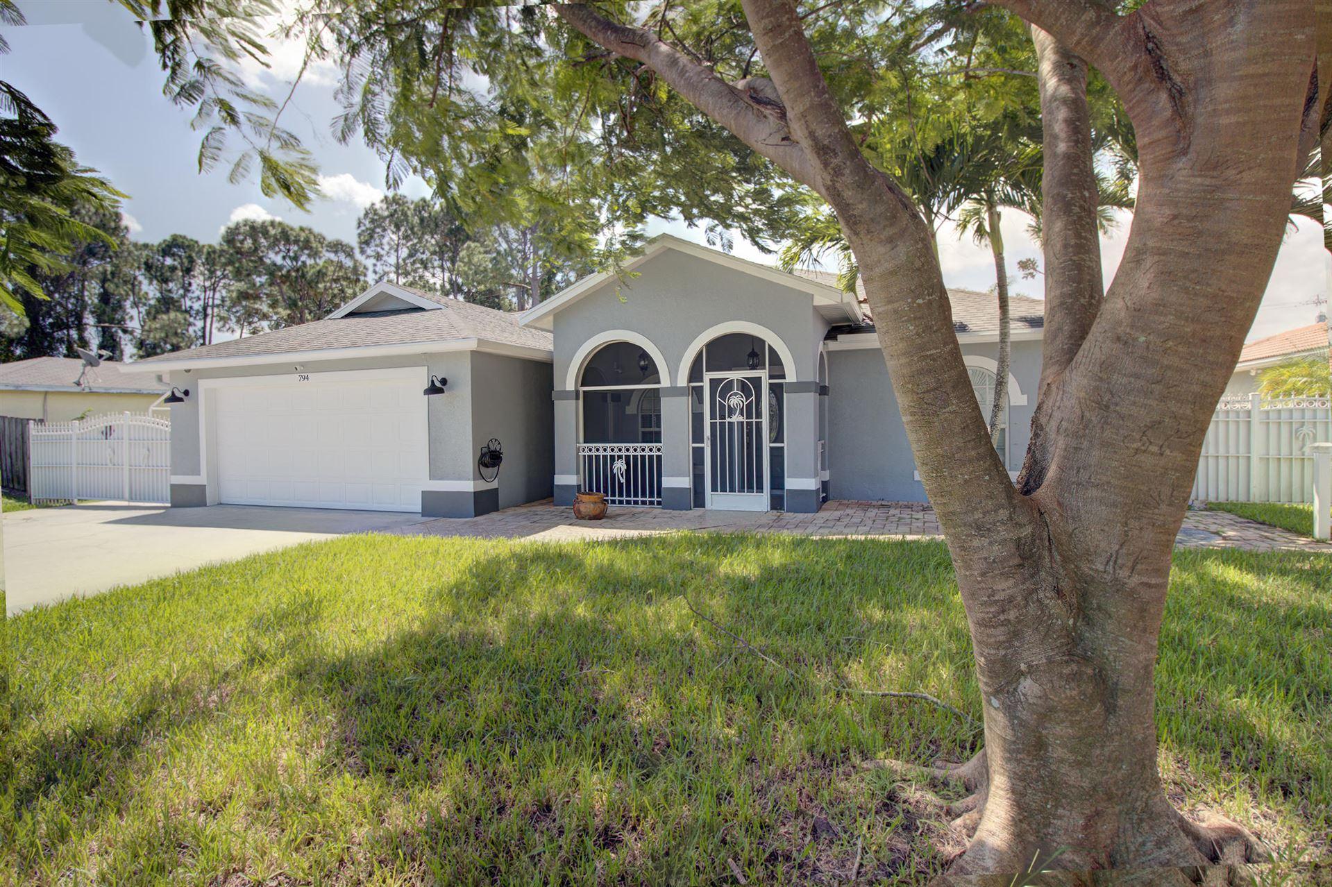 794 SW Parker Avenue, Port Saint Lucie, FL 34953 - #: RX-10658460