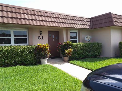 Photo of 5725 Fernley Drive E #61, West Palm Beach, FL 33415 (MLS # RX-10745464)