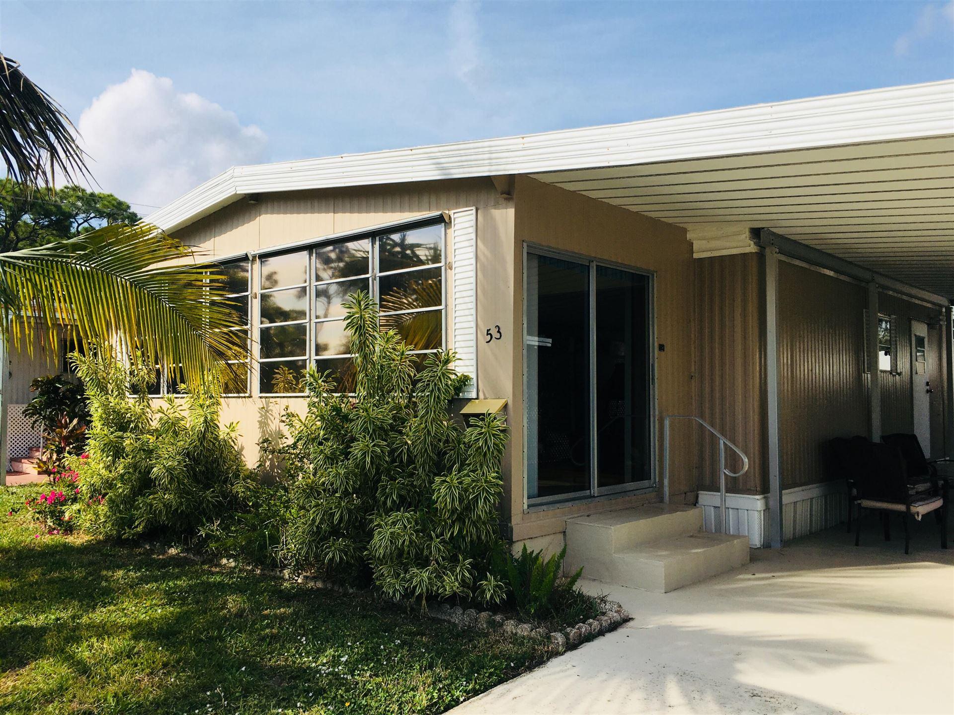 12375 S Military Trail #Lot 53, Boynton Beach, FL 33436 - MLS#: RX-10743483