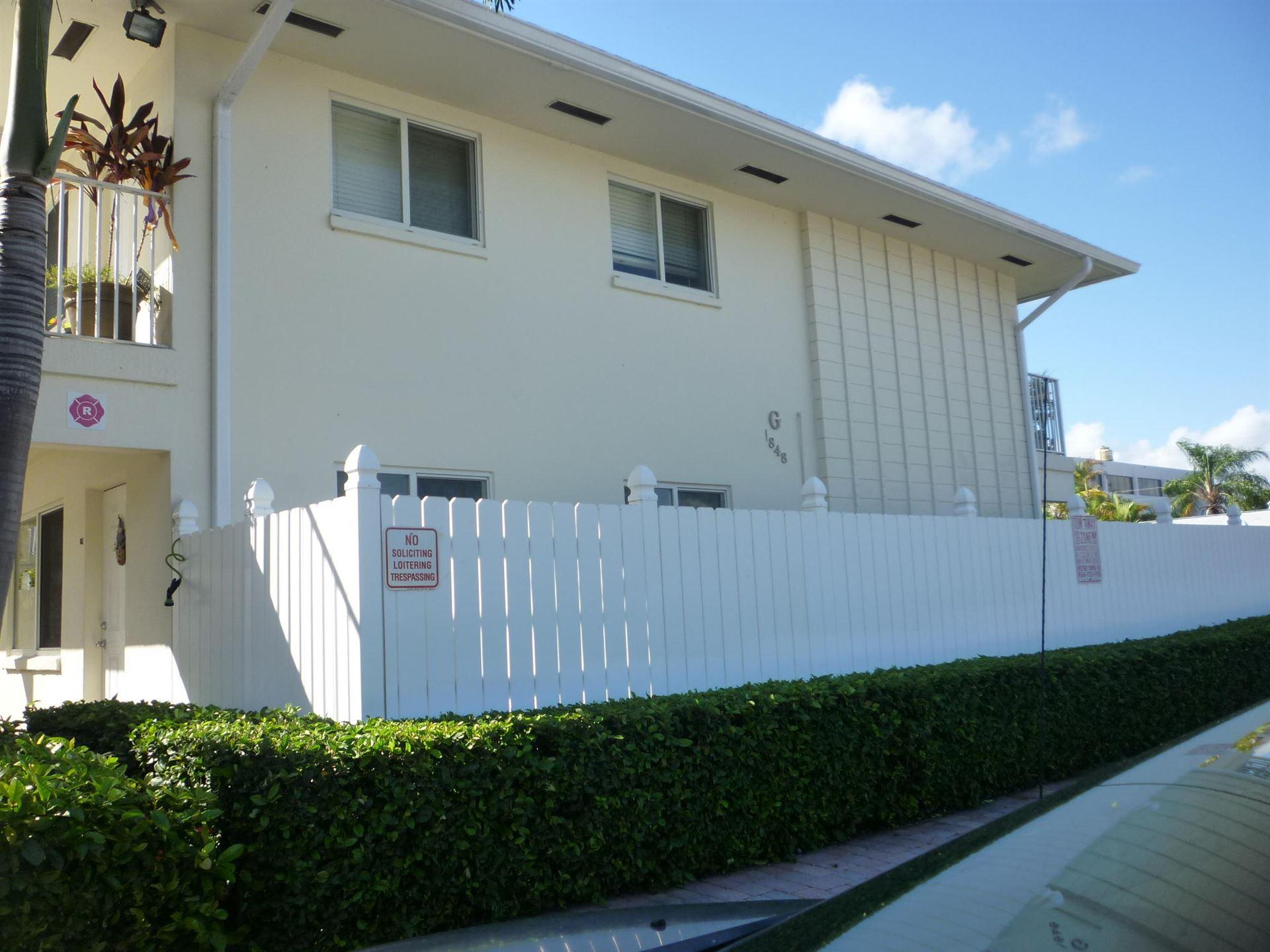 1848 NE 46th Street #G8, Fort Lauderdale, FL 33308 - #: RX-10657505