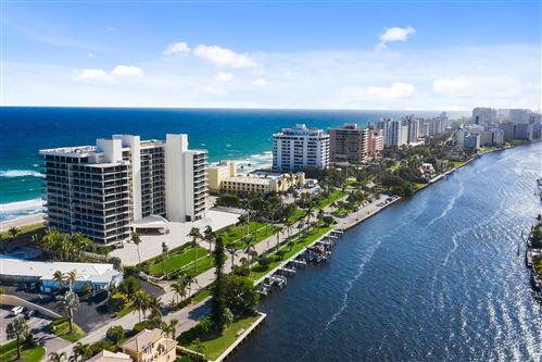 Photo of 2727 S Ocean Boulevard #1008, Highland Beach, FL 33487 (MLS # RX-10703511)