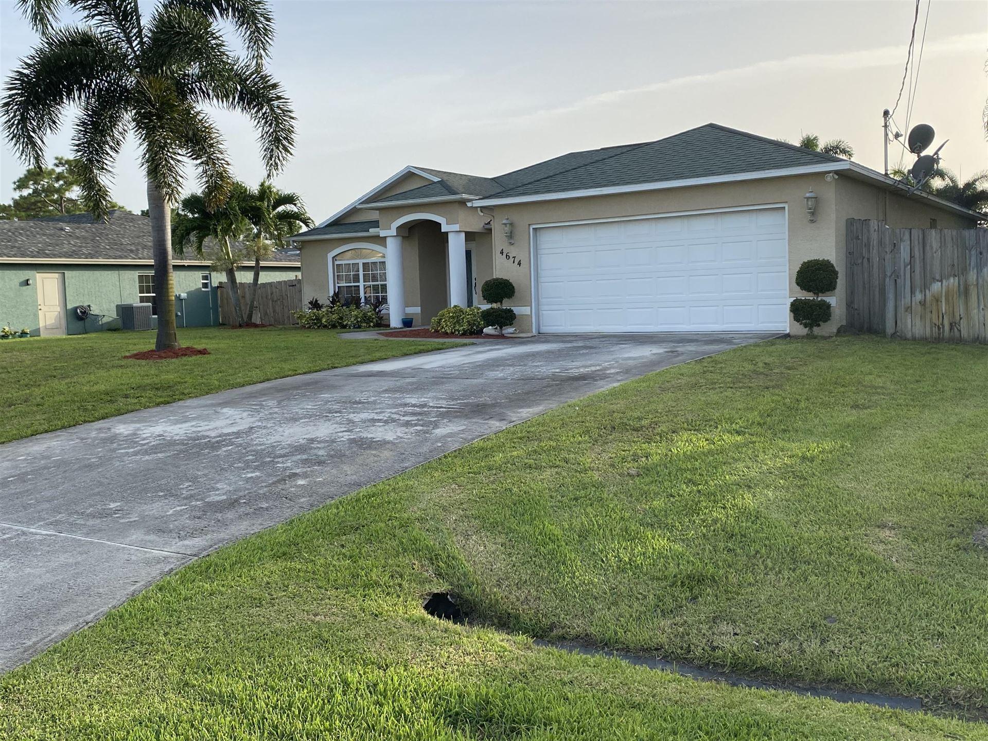 4674 SW Dactyl Street, Port Saint Lucie, FL 34953 - #: RX-10635525