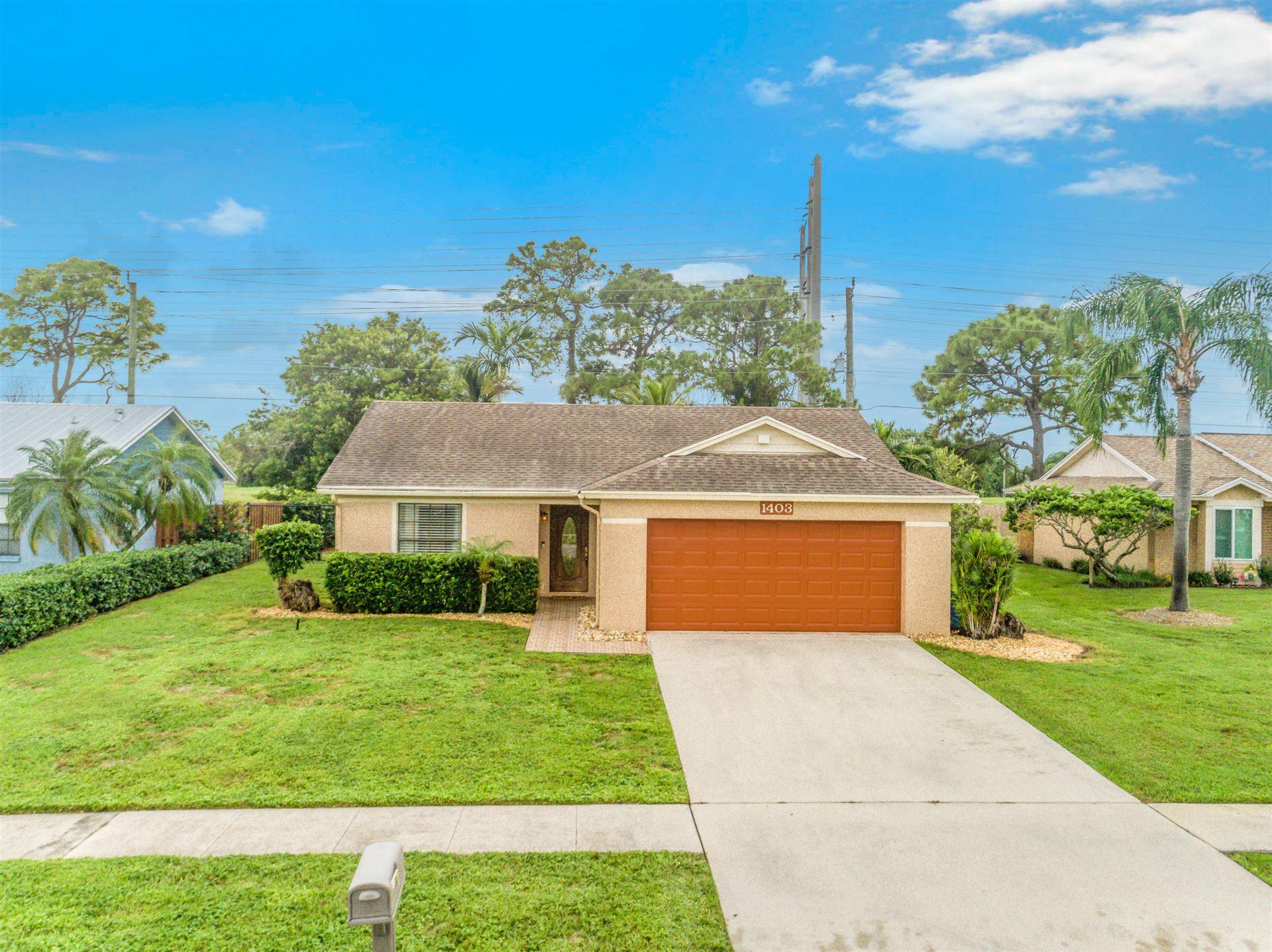 1403 Mc Dermott Lane, Royal Palm Beach, FL 33411 - #: RX-10665530