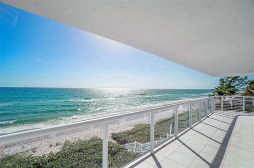 Photo of 3505 S Ocean Boulevard #4 South, Highland Beach, FL 33487 (MLS # RX-10692543)