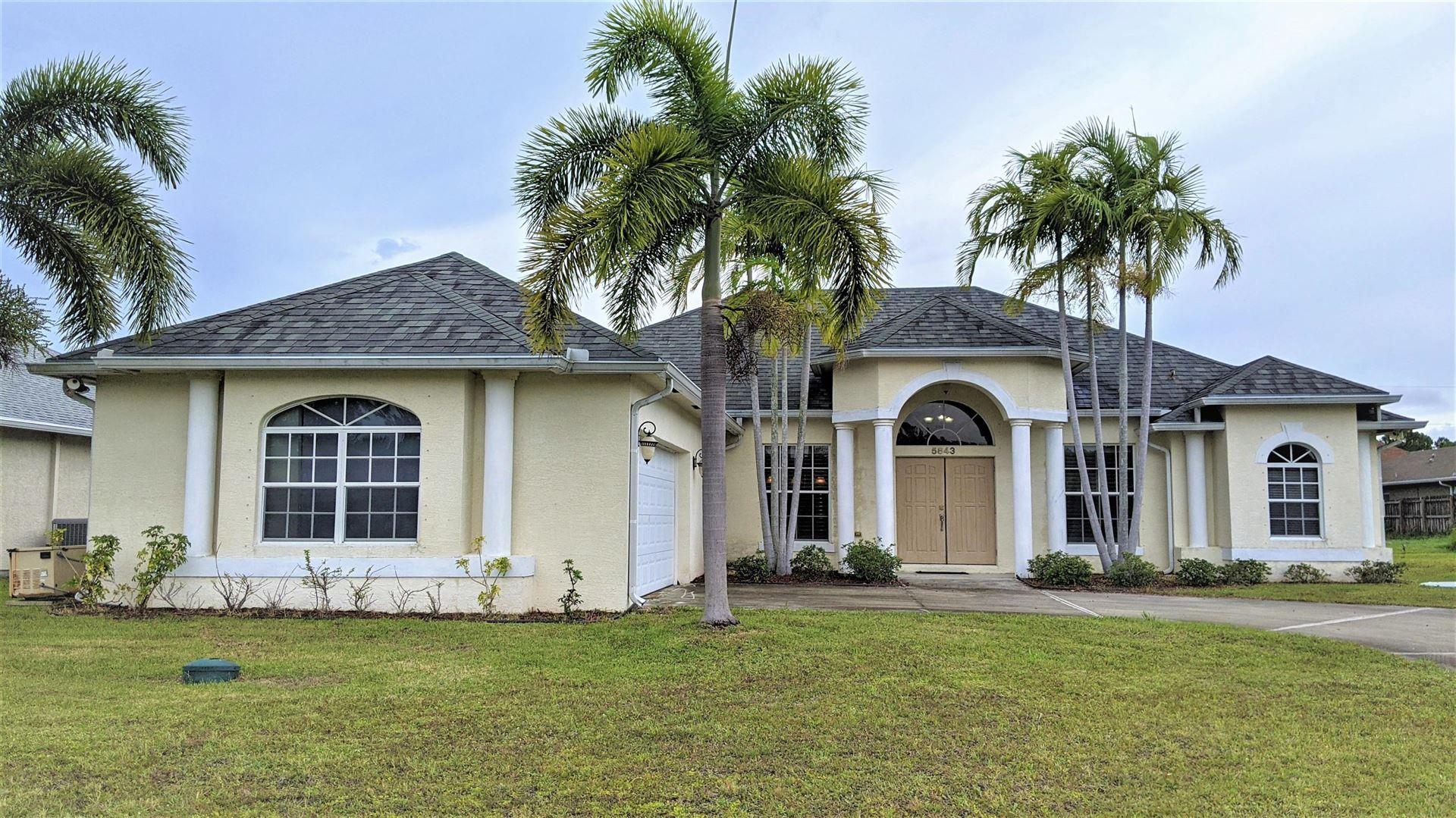 5843 NW Begonia Avenue, Port Saint Lucie, FL 34986 - MLS#: RX-10721569