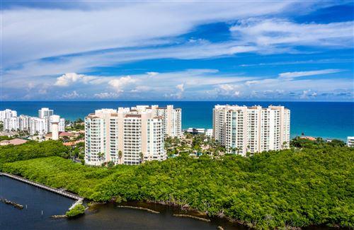 Photo of 3700 S Ocean Boulevard #201b, Highland Beach, FL 33487 (MLS # RX-10659609)