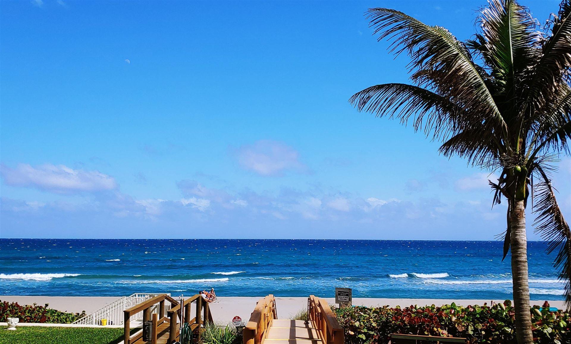 Photo of 3115 S Ocean Boulevard #502, Highland Beach, FL 33487 (MLS # RX-10656610)