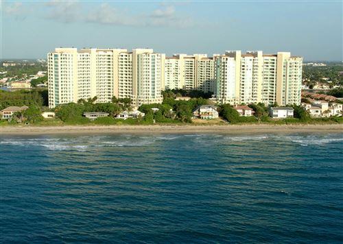 Photo of 3720 S Ocean Boulevard #1005, Highland Beach, FL 33487 (MLS # RX-10668676)