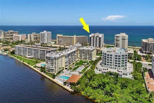 Photo of 3115 S Ocean Boulevard #301, Highland Beach, FL 33487 (MLS # RX-10731693)