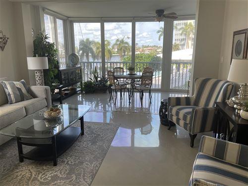Photo of 3300 S Ocean Boulevard #224-C, Highland Beach, FL 33487 (MLS # RX-10684697)
