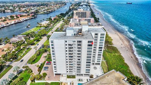 Photo of 3015 S Ocean Boulevard #1102, Highland Beach, FL 33487 (MLS # RX-10705704)