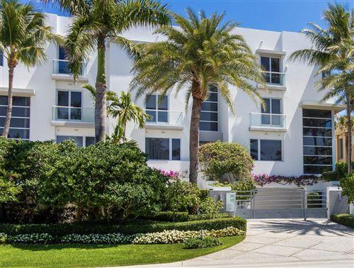Photo of 4215 S Ocean Boulevard #Villa 3, Highland Beach, FL 33487 (MLS # RX-10703708)