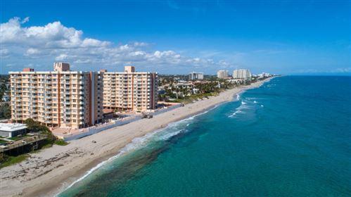 Photo of 4505 S Ocean Boulevard #707, Highland Beach, FL 33487 (MLS # RX-10705713)