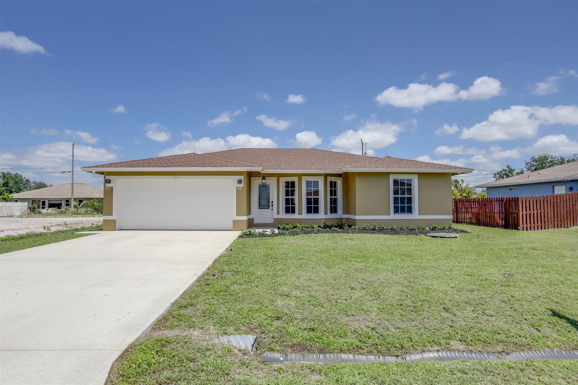 559 SW Halifax Avenue, Port Saint Lucie, FL 34953 - MLS#: RX-10675737