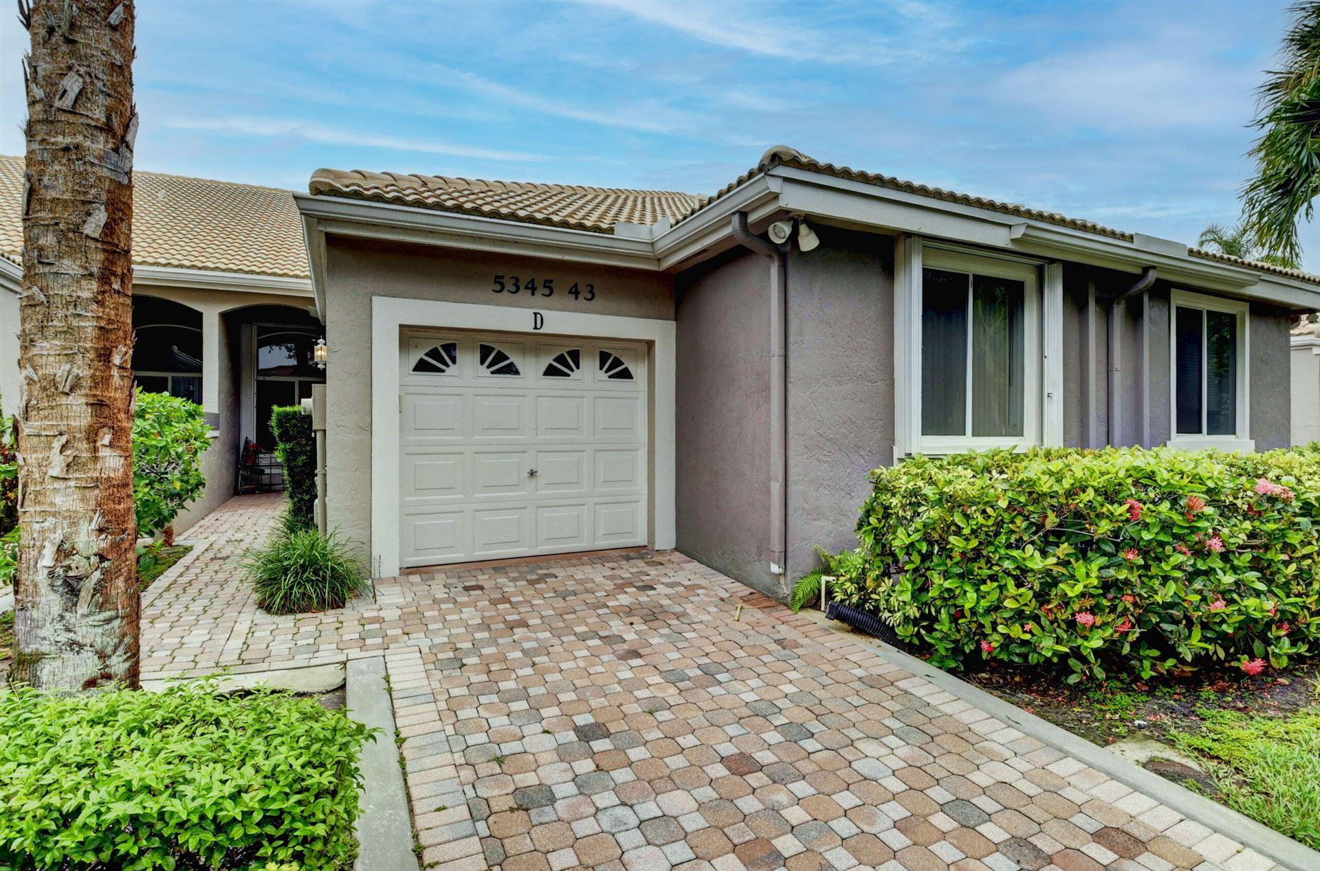 5345 Monterey Circle #D, Delray Beach, FL 33484 - MLS#: RX-10730742