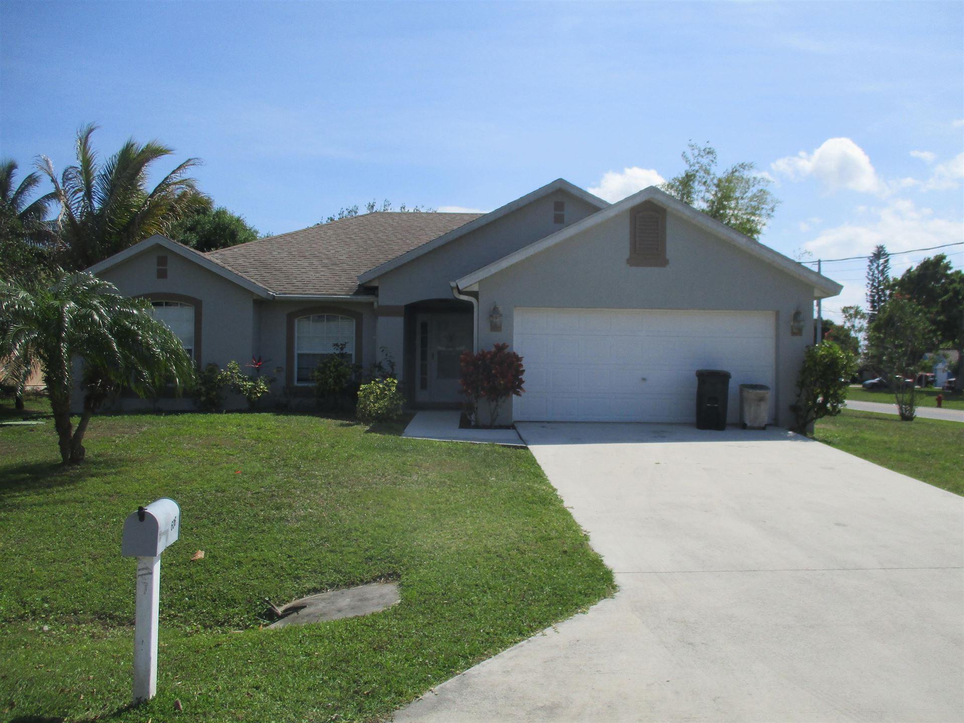 606 Ash Street, Port Saint Lucie, FL 34952 - MLS#: RX-10699764
