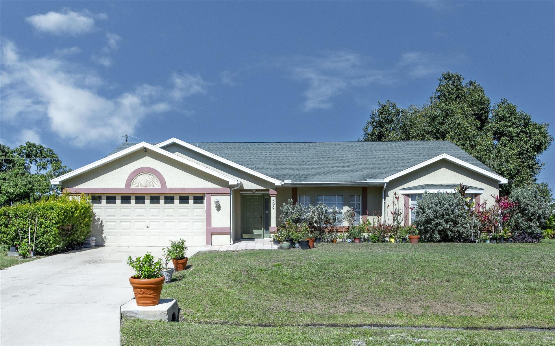 592 SW Lovell Terrace, Port Saint Lucie, FL 34953 - MLS#: RX-10696799
