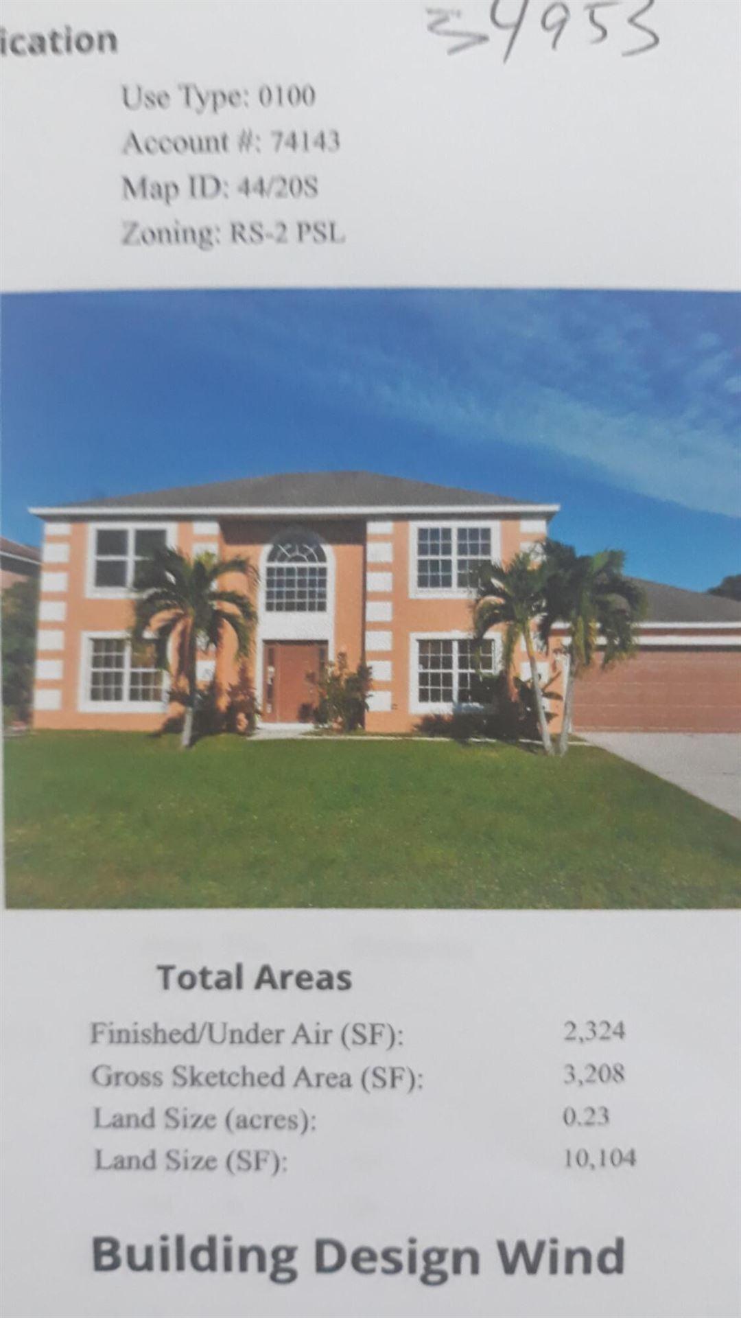 557 SW Halden Avenue, Port Saint Lucie, FL 34953 - #: RX-10731813