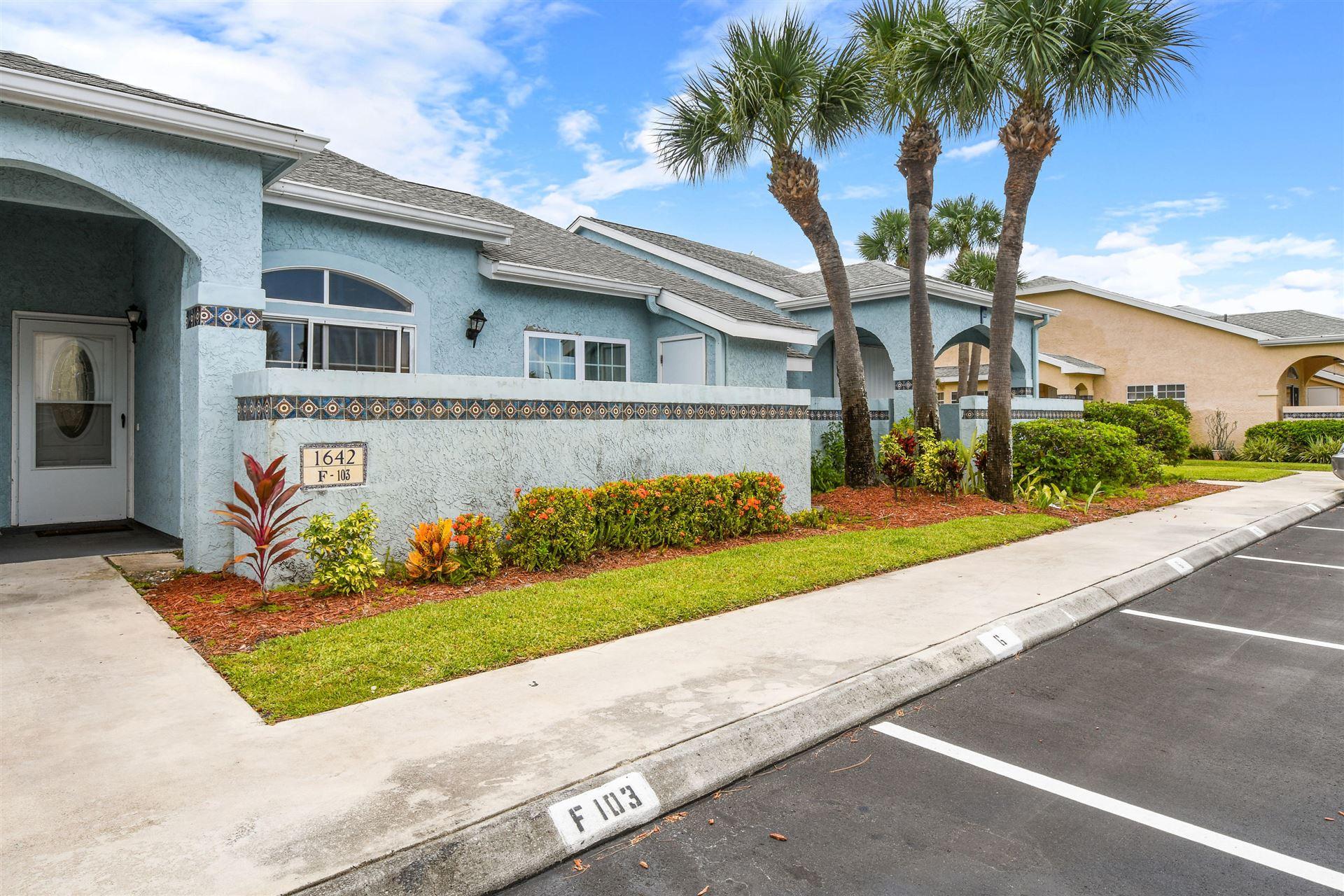 1642 SE Green Acres Circle #F103, Port Saint Lucie, FL 34952 - #: RX-10639824