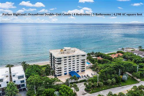 Photo of 4605 S Ocean Boulevard #3b, Highland Beach, FL 33487 (MLS # RX-10658839)