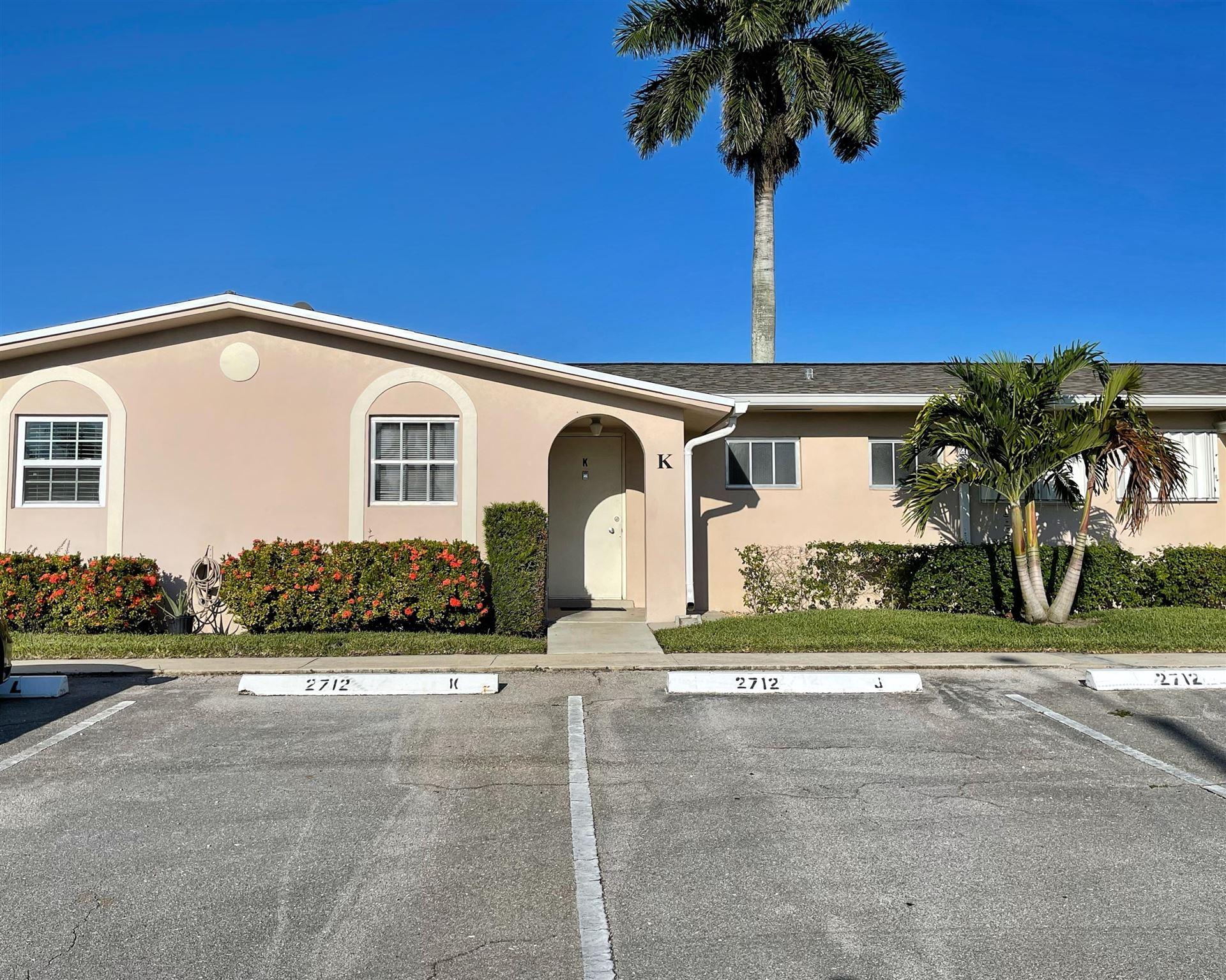 2712 Dudley Drive E #K, West Palm Beach, FL 33415 - MLS#: RX-10720878