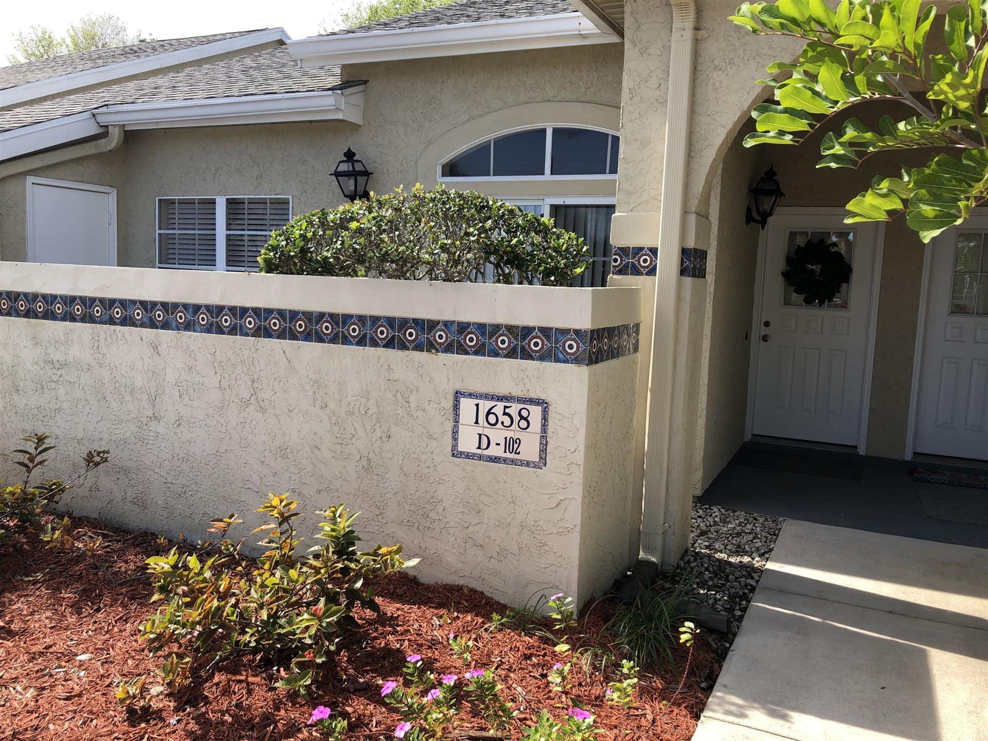 1658 SE Green Acres Circle #D102, Port Saint Lucie, FL 34952 - MLS#: RX-10714893