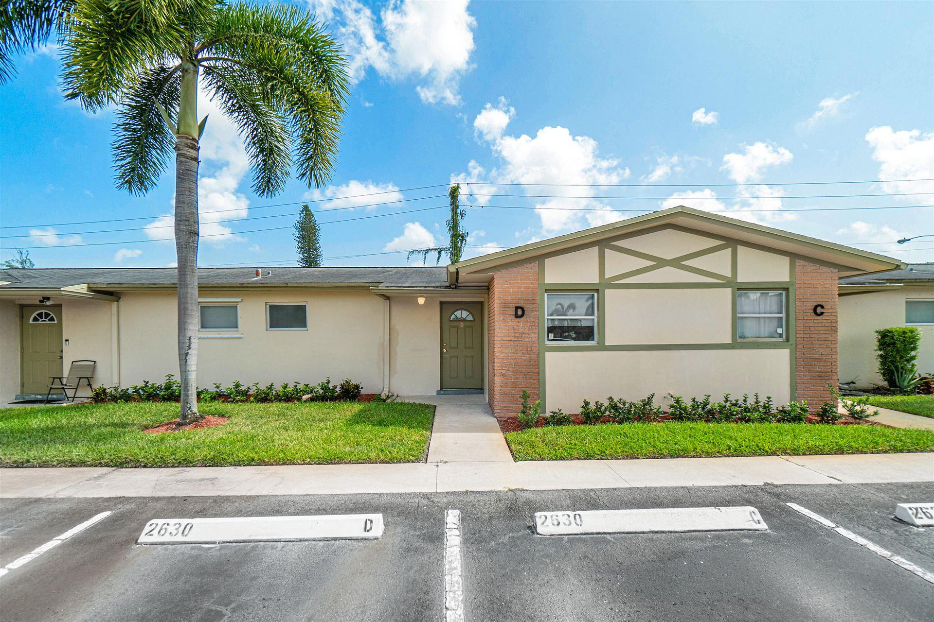 2630 Barkley Drive E #D, West Palm Beach, FL 33415 - #: RX-10750900