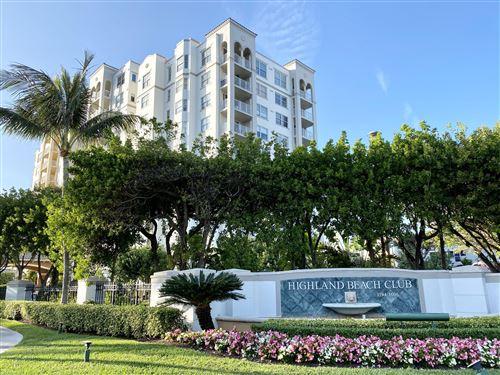 Photo of 3594 S Ocean Boulevard #606, Highland Beach, FL 33487 (MLS # RX-10571916)