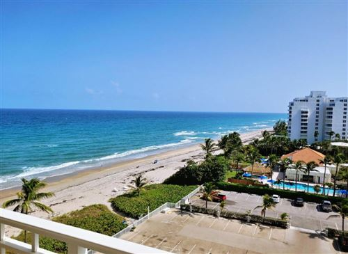 Photo of 3301 S Ocean Boulevard #805, Highland Beach, FL 33487 (MLS # RX-10726928)