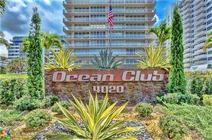 Photo of 4020 Galt Ocean Dr #1204, Fort Lauderdale, FL 33308 (MLS # F10161013)