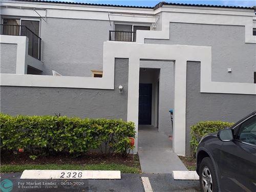 Foto de inmueble con direccion 2326 SW 82nd Ter #2326 North Lauderdale FL 33068 con MLS F10234028