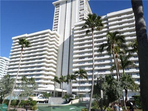 Photo of 3900 Galt Ocean Dr #1105, Fort Lauderdale, FL 33308 (MLS # F10289042)