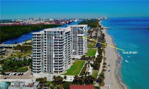 Photo of 6051 N Ocean Dr #1401, Hollywood, FL 33019 (MLS # F10216055)
