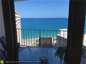 Photo of 4100 Galt Ocean Dr #1702, Fort Lauderdale, FL 33308 (MLS # F10118129)