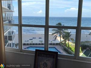 Photo of 3700 Galt Ocean Dr #510, Fort Lauderdale, FL 33308 (MLS # F10143150)