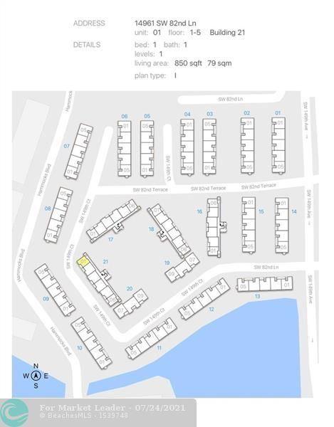 14961 SW 82nd Ln #21-201, Miami, FL 33193 - #: F10294190