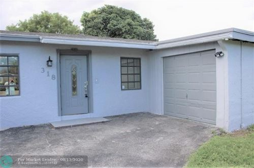 Photo of 318 SW 77th Ave, North Lauderdale, FL 33068 (MLS # F10242205)