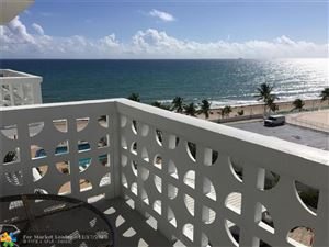 Photo of 4010 Galt Ocean Dr #709, Fort Lauderdale, FL 33308 (MLS # F10150262)