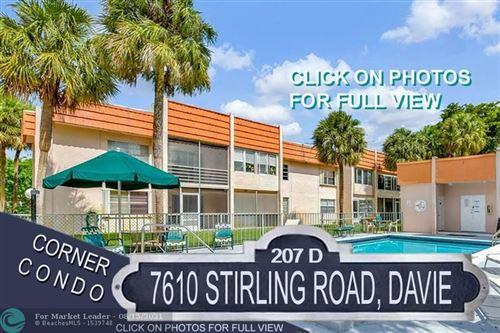 Photo of 7610 Stirling Rd #D207, Davie, FL 33024 (MLS # F10293287)