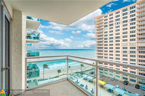 Photo of 3900 Galt Ocean Dr #803, Fort Lauderdale, FL 33308 (MLS # F10208351)