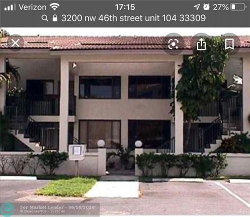 Foto de inmueble con direccion 3200 NW 46th St #104 Oakland Park FL 33309 con MLS F10234385