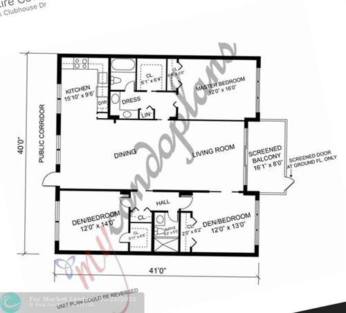 Photo of 3800 Oaks Clubhouse Dr #109, Pompano Beach, FL 33069 (MLS # F10301476)