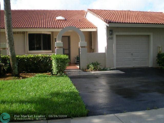 16650 Greens Edge Cir #66, Weston, FL 33326 - #: F10221569