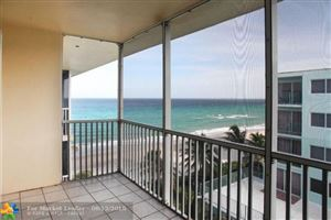 Photo of 1161 Hillsboro Mile #607, Hillsboro Beach, FL 33062 (MLS # F10119595)