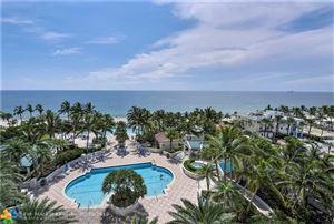 Photo of 3100 N Ocean Blvd #910, Fort Lauderdale, FL 33308 (MLS # F10131648)