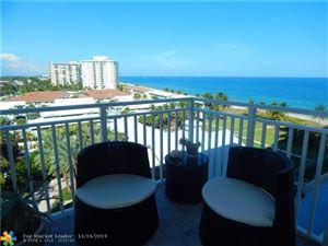 Photo of 5200 N Ocean Blvd #910, Lauderdale By The Sea, FL 33308 (MLS # F10203764)