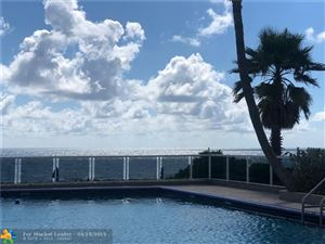 Photo of 3700 Galt Ocean Dr #302, Fort Lauderdale, FL 33308 (MLS # F10171821)