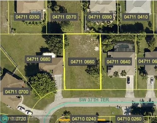 Tiny photo for 2013 SW 37th Terrace, CAPE CORAL, FL 33914 (MLS # F10301891)