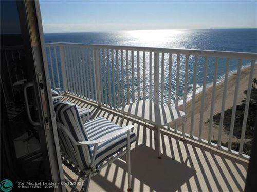 Photo of 1370 S Ocean #1801, Pompano Beach, FL 33062 (MLS # F10283974)