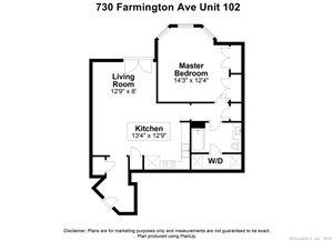 Tiny photo for 730 Farmington Avenue #102, West Hartford, CT 06119 (MLS # 170184229)